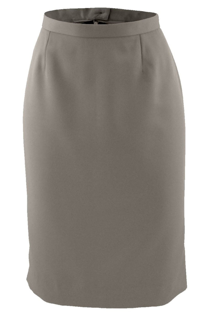 Tan Microfiber Straight Skirt