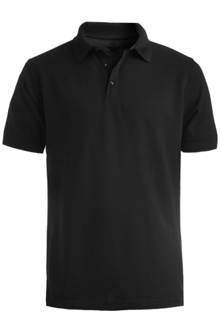 Men's Black Pique Polo