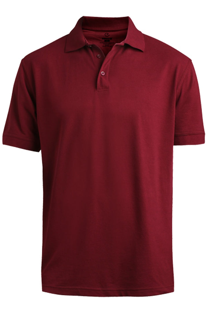 Men's Burgundy Pique Polo