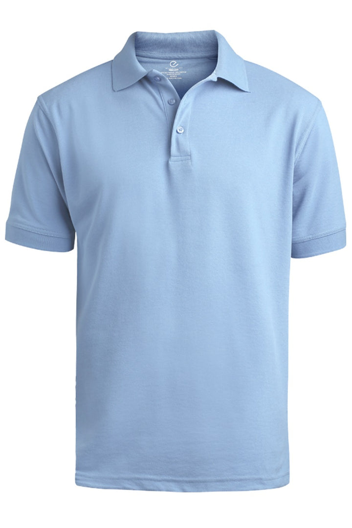 Men's Light Blue Pique Polo