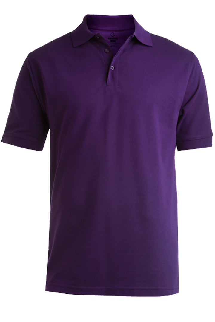 Men's Purple Pique Polo