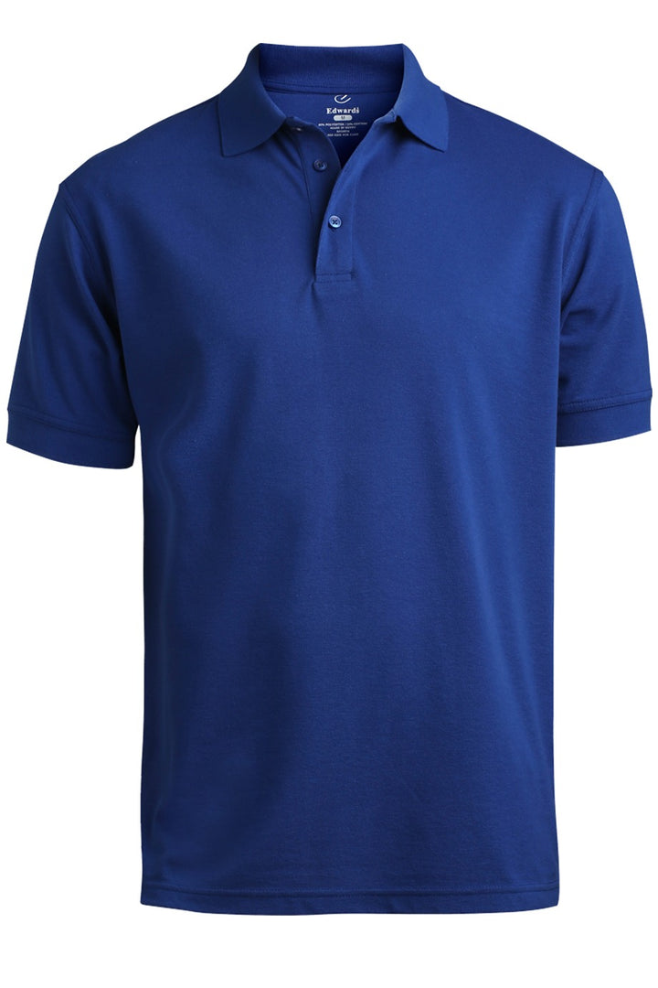 Men's Royal Blue Pique Polo