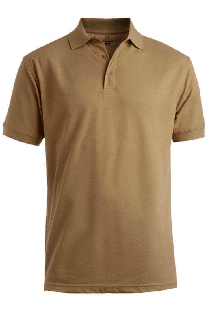 Men's Tan Pique Polo