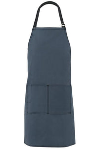 Blue Slate City Market Long Vintage Bib Apron