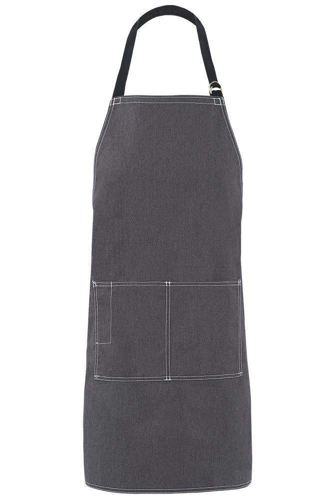 Heather Grey City Market Long Vintage Bib Apron