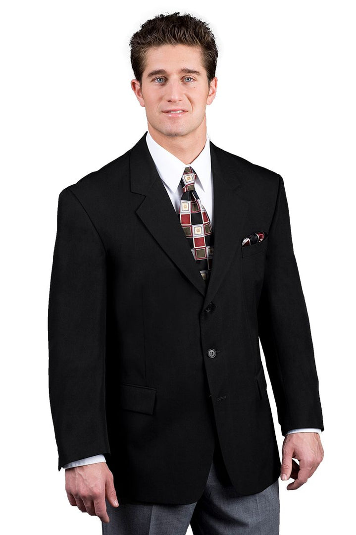 Men's Black Easywear 3-Button Blazer