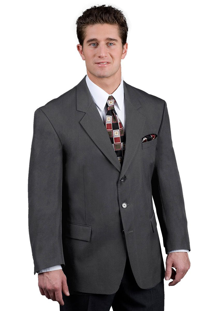 Men's Grey Easywear 3-Button Blazer