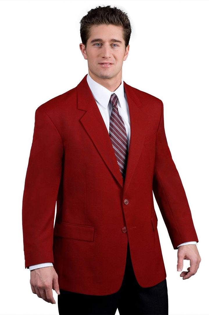 Men's Red Easywear 2-Button Polywool Blazer