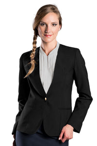 Women's Black Ultralux Collarless Cardigan Blazer
