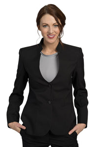 Women's Black Ultralux Mandarin Collar Blazer