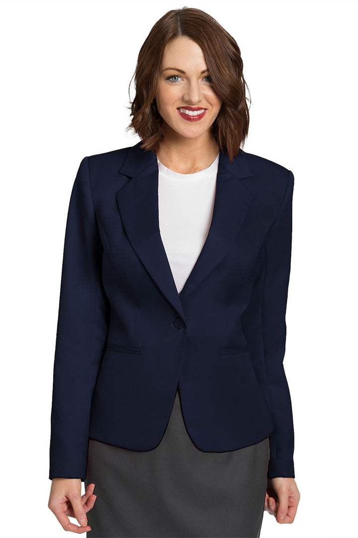 Women's Navy Juliet Cropped Easywear Blazer