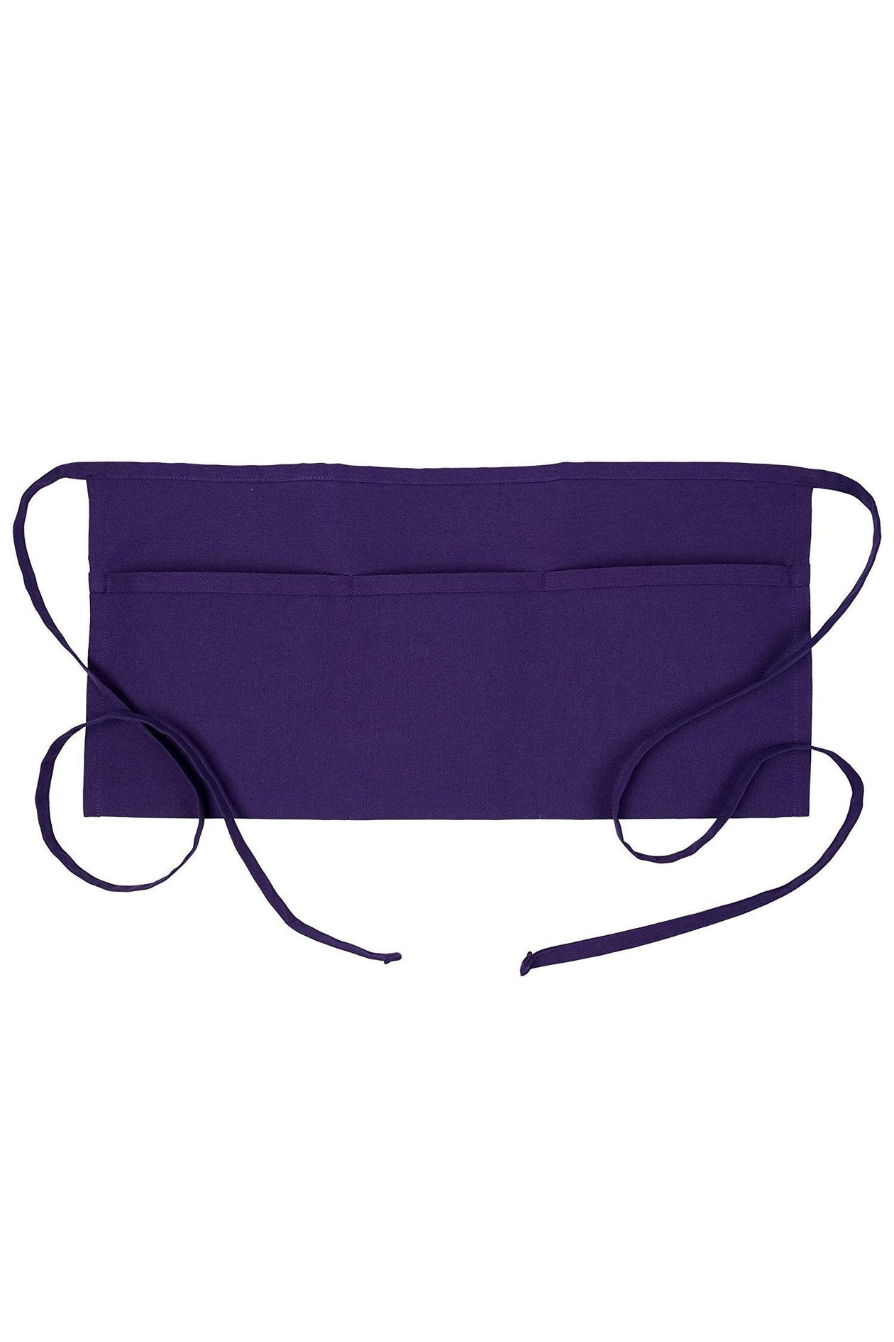Purple Waist Apron (3 Pockets)