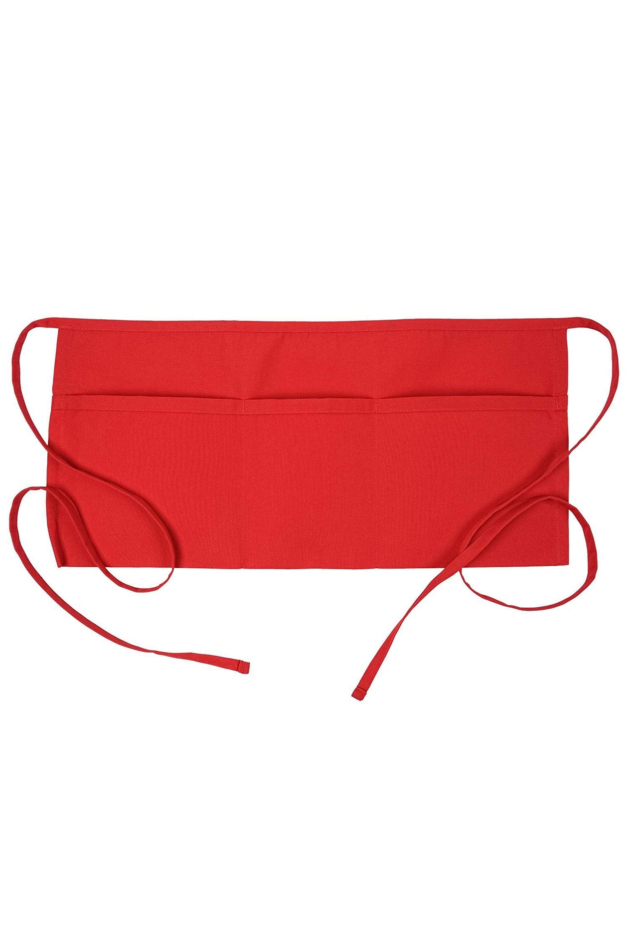 Red Waist Apron (3 Pockets)