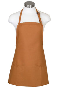 Nutmeg Bib Adjustable Apron (3 Pockets)