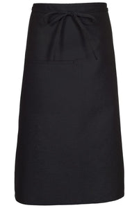 Black Bistro Apron (1 Inset Pocket)