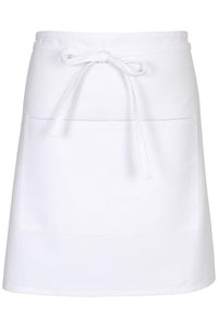 White Half Bistro Apron (2 Patch Pockets)