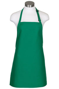 Kelly Green Cover Up Bib Adjustable Apron (No Pockets)