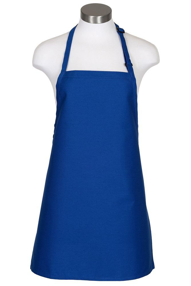 Royal Blue Cover Up Bib Adjustable Apron (No Pockets)