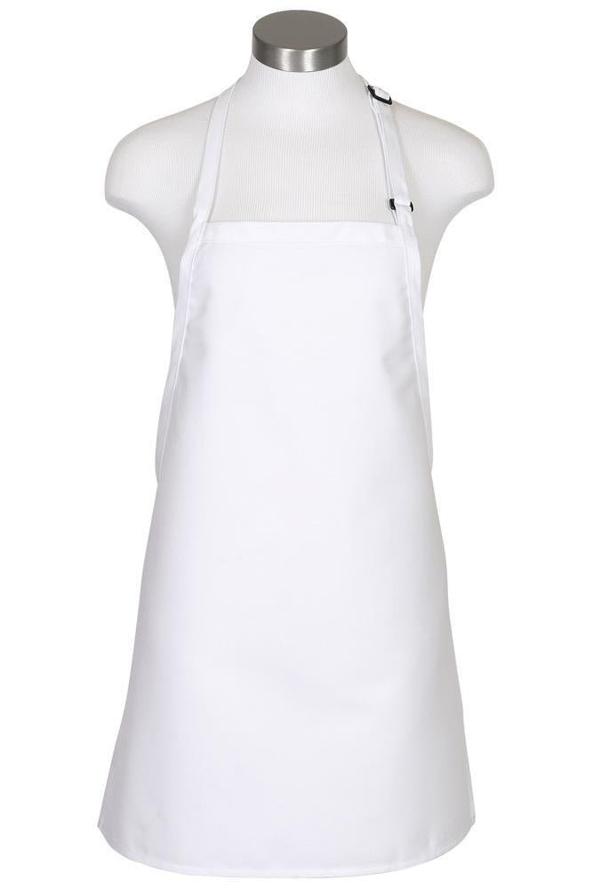 White Cover Up Bib Adjustable Apron (No Pockets)