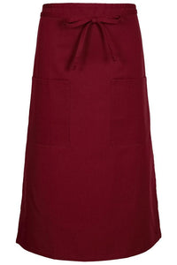 Burgundy Bistro Apron (2 Pockets)