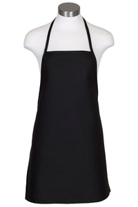 Black Cover Up Bib Apron (No Pockets)