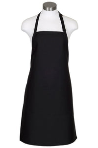 Black Bib Adjustable Apron (2 Pockets)
