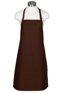 Brown Bib Adjustable Apron (2 Pockets)
