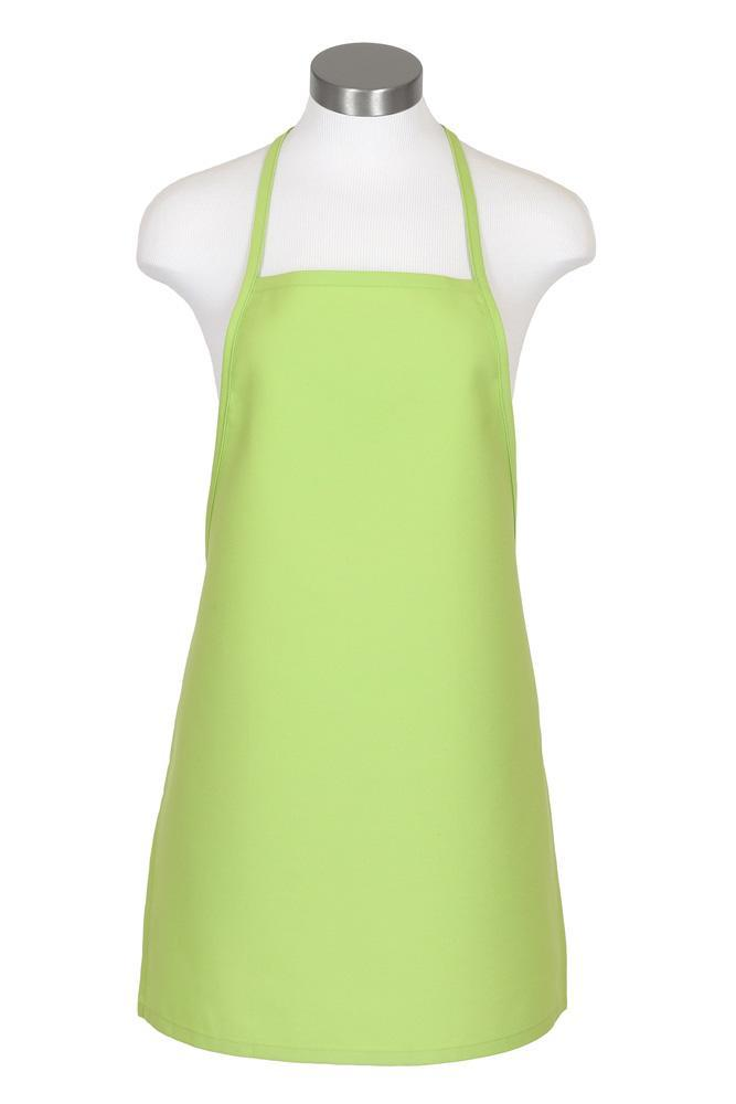 Lime Cover Up Bib Apron (No Pockets)