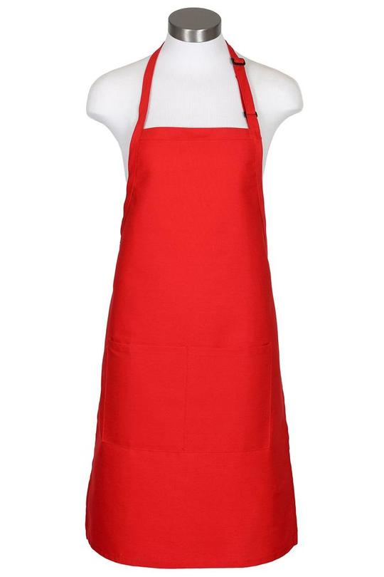 Red Bib Adjustable Apron (2 Pockets)