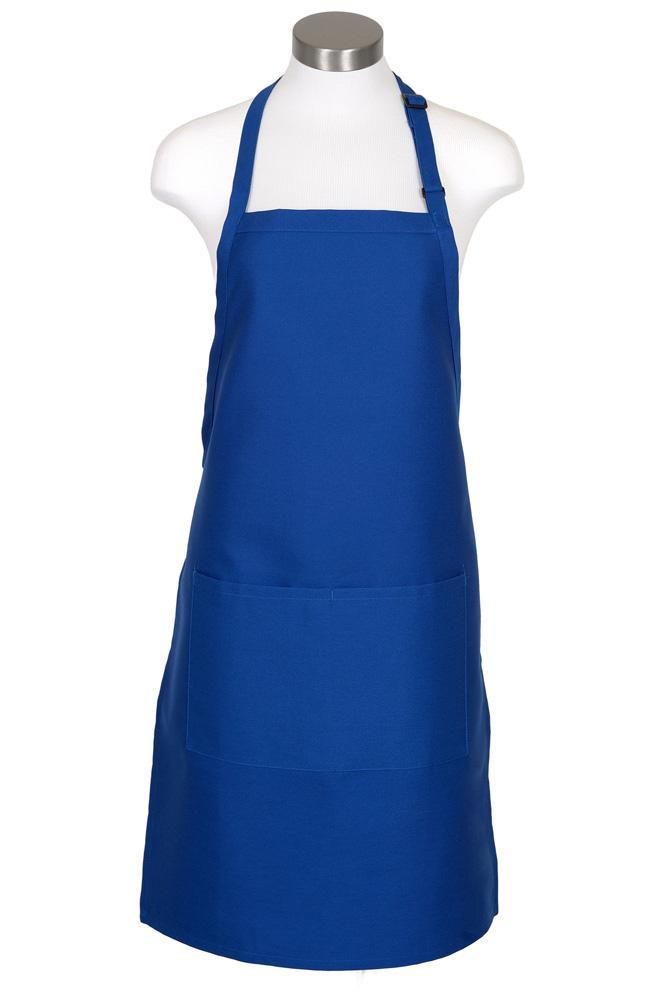 Royal Blue Bib Adjustable Apron (2 Pockets)