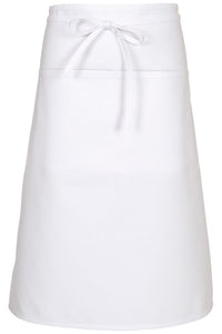 White Bistro Apron (2 Patch Pockets)