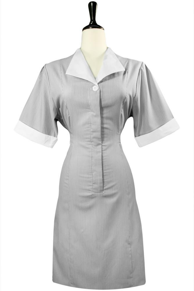 Grey Junior Cord Housekeeping Dress