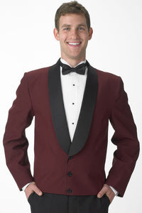 """Holden"" Men's Burgundy Eton Jacket"