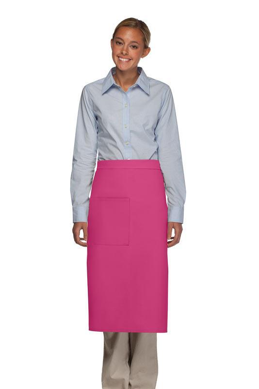Hot Pink Full Bistro Apron (1 Pocket)