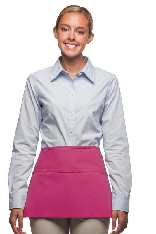 Hot Pink 3-Pocket Waist Apron