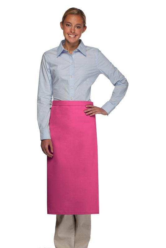 Hot Pink No Pocket Full Bistro Apron