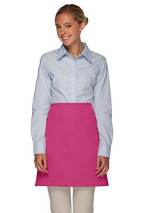 Hot Pink No Pocket Half Bistro Apron