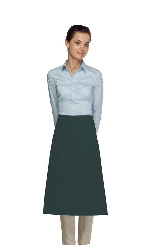 Hunter Green 1 Pocket Three Quarter Bistro Apron
