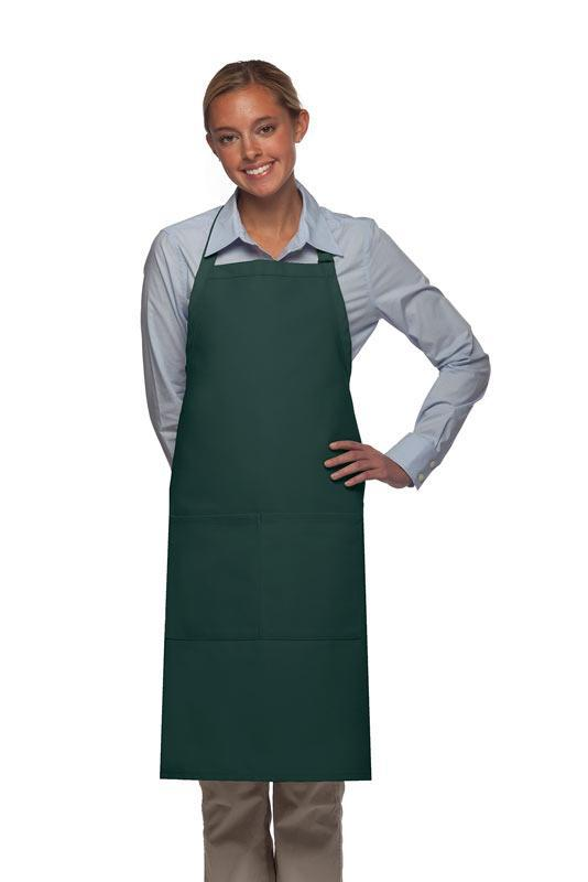 Hunter Green 2 Pocket Adjustable Bib Apron
