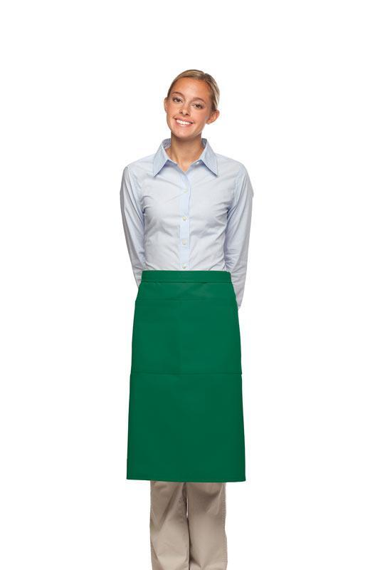 Kelly Green 2 Pocket Three Quarter Bistro Apron