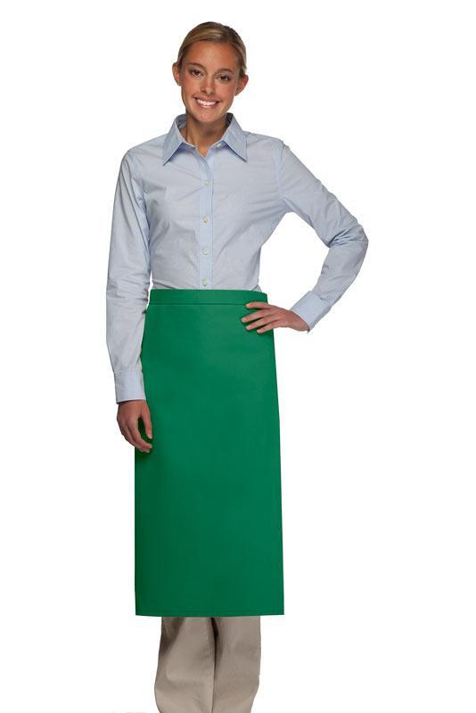 Kelly Green No Pocket Full Bistro Apron