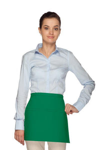 Kelly Green Square Waist Apron