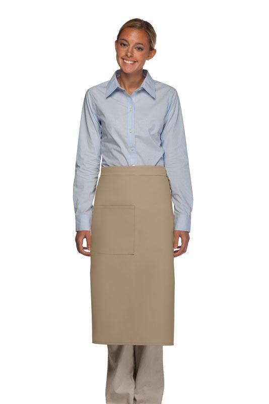 Khaki 1 Pocket Full Bistro Apron
