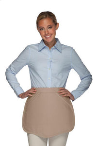 Khaki Scalloped Waist Apron