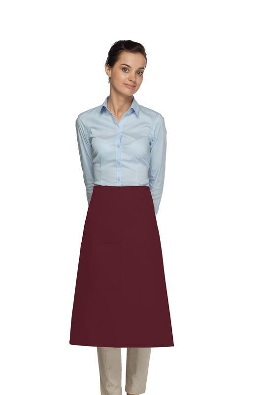 Maroon 1 Pocket Three Quarter Bistro Apron