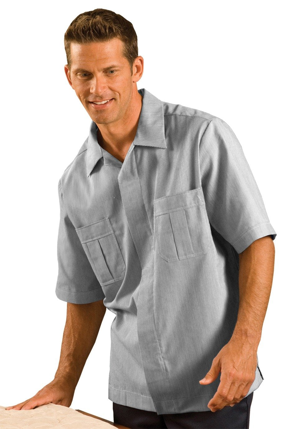 Grey Junior Cord Men's Housekeeping Service Shirt