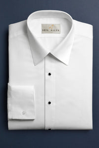 """Roger"" White Men's Dress Shirt"