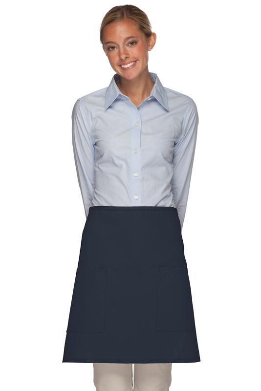 Navy 2 Patch Pocket Half Bistro Apron