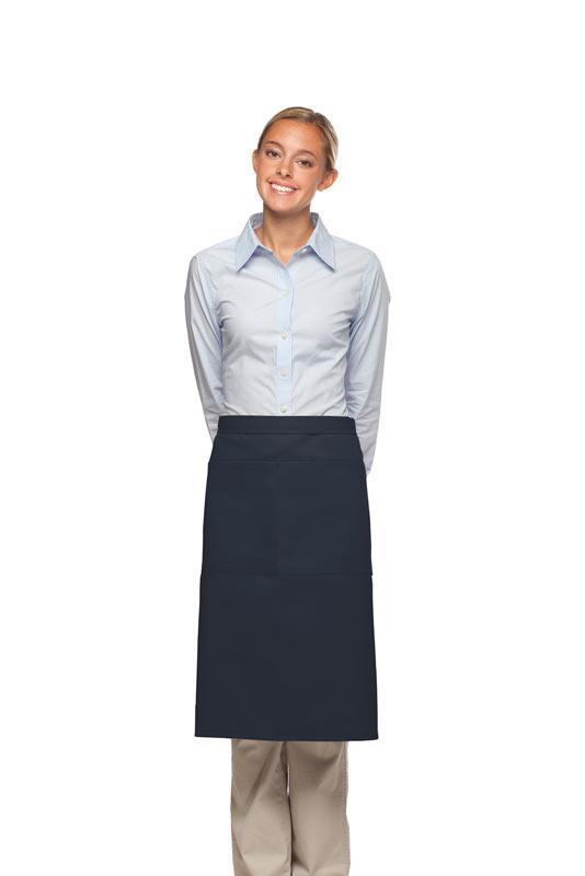 Navy 2 Pocket Three Quarter Bistro Apron