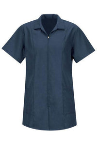 Navy Women's Zip-Front Smock